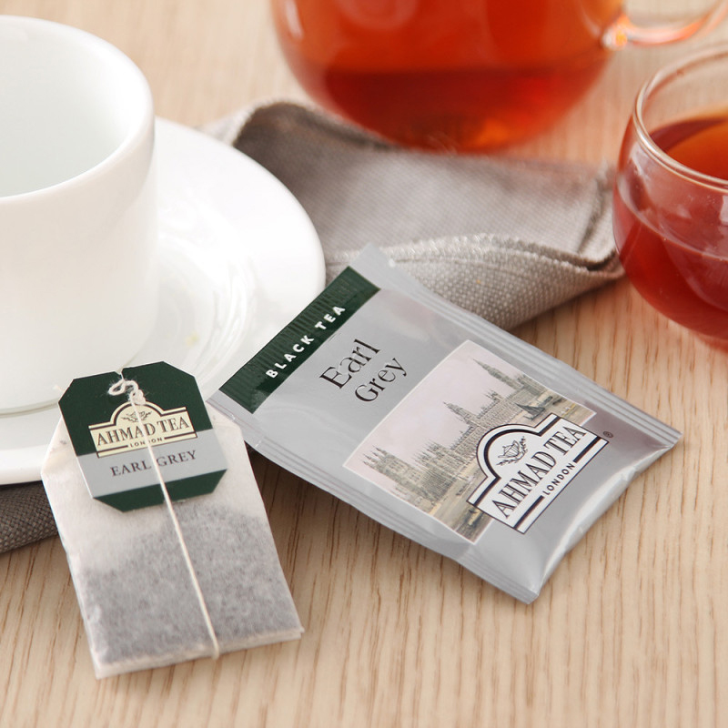 片 20 40g 英国进口英式格雷伯爵红茶袋泡茶叶茶包 亚曼 TEA AHMAD