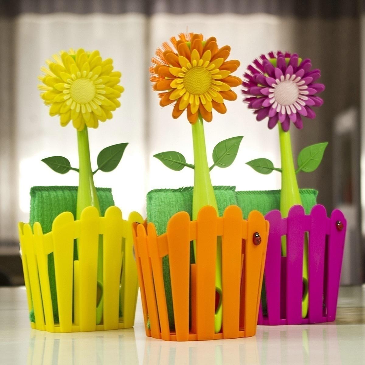 正品Vigar維宜卡清潔刷鍋刷歡樂綻放太陽花創意家居刷子萬用刷