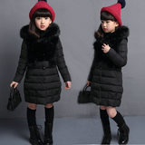 2019 winter new female children's wear thick cotton children long down jacket big virgin girls cotton jacket
