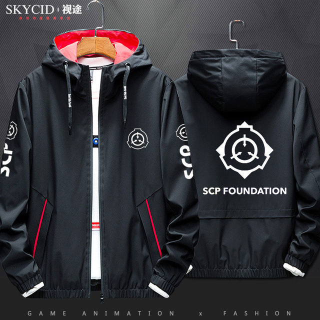 SCP Foundation sweater hooded cardigan jacket autumn and winter anime men and women couple jacket windbreaker jacket clothes
