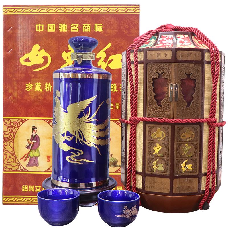 年陳年珍藏酒半干型 50 瓶裝 1.5L 年陳黃酒花雕酒精品禮盒 50 女兒紅