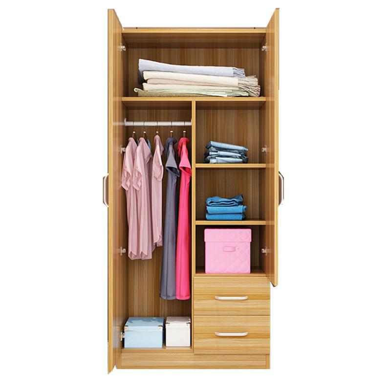 门简易木质对开门大人大衣橱家用卧室组装 23 衣柜简约现代经济型