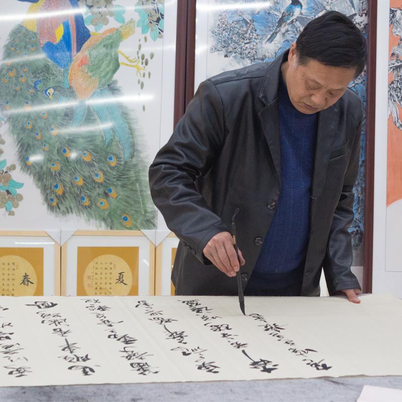 書法家字畫私人定制真跡手寫毛筆字客廳名人名家裝裱客廳手寫書畫