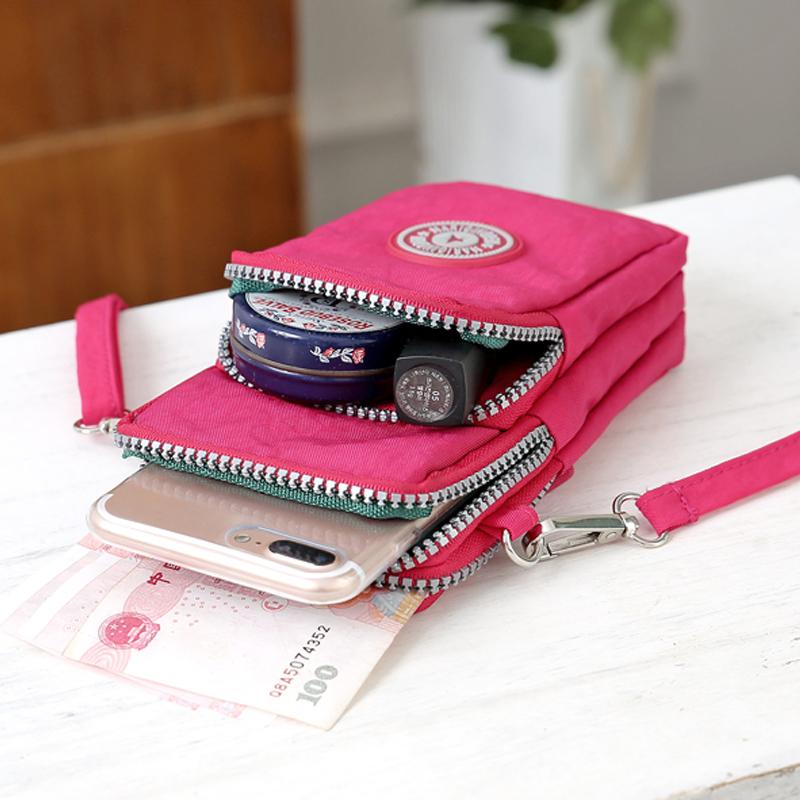 2019新款放手机包女包斜挎包挂脖手机袋子布袋便携装迷你的小包包