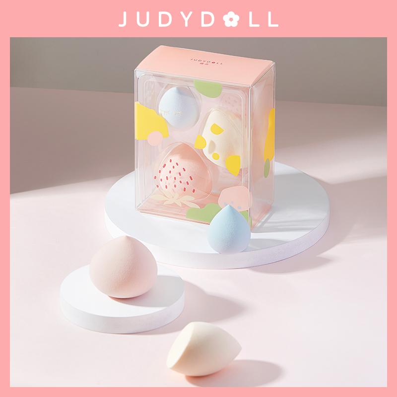 Judydoll橘朵春游野餐美妆蛋套装干湿两用Q弹不吃粉3只学生旗舰店
