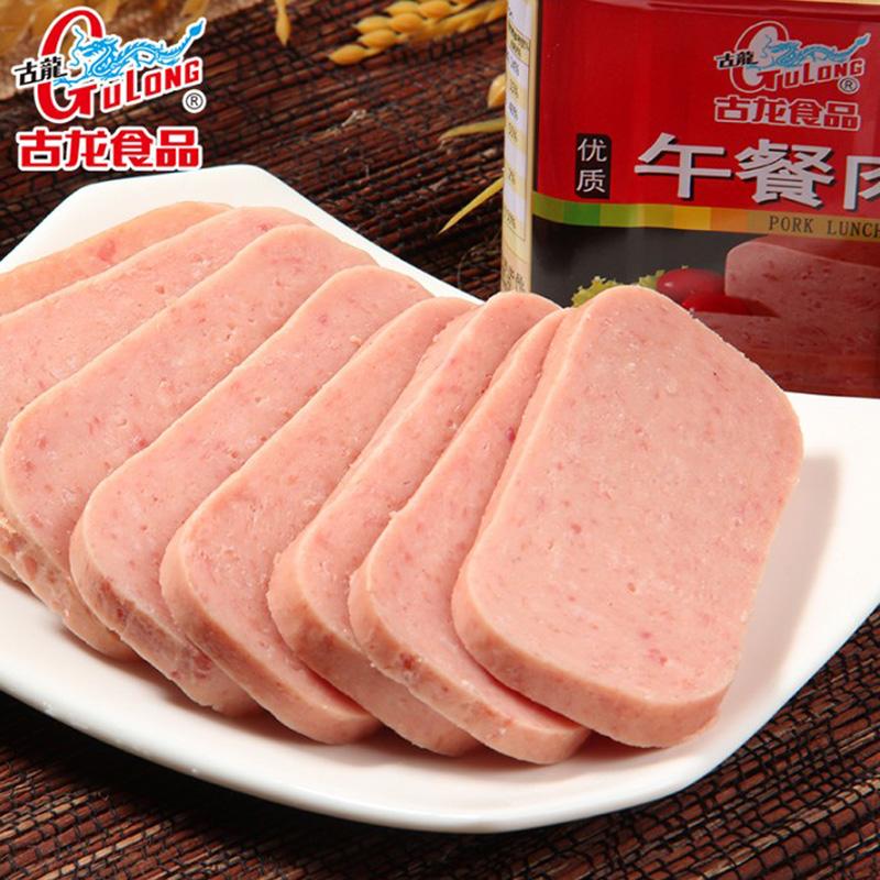 即食火腿肉户外食品 6 340g 古龙优质午餐肉罐头 厦门特产 特价
