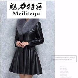 秋冬季海宁皮衣女士中长款皮草外套加厚棉衣修身欧洲站女装大衣