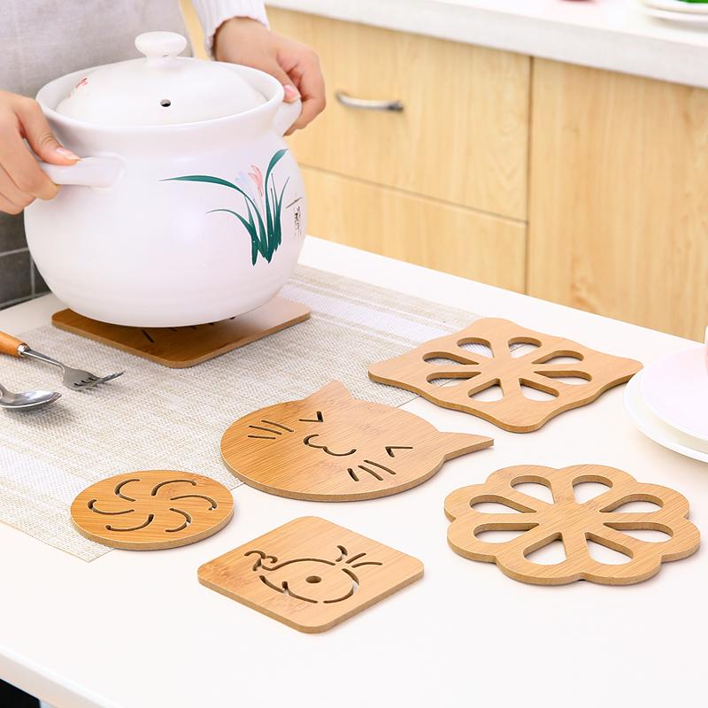 鏤空卡通木質杯墊隔熱墊廚房防燙防滑餐墊碗墊鍋墊子餐桌墊茶杯墊