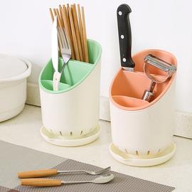 家用厨房筷子筒沥水餐具收纳盒防霉置物架托快子勺笼子桶塑料筷篓