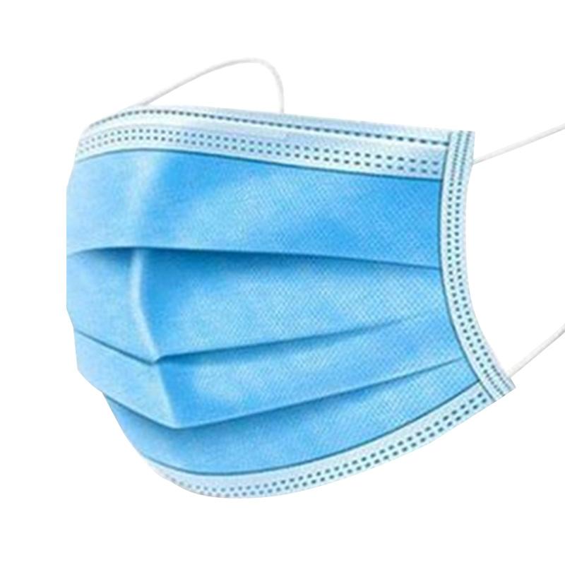 口罩一次性 三层熔喷成人包邮囗的罩现货 50只防护透气口鼻罩