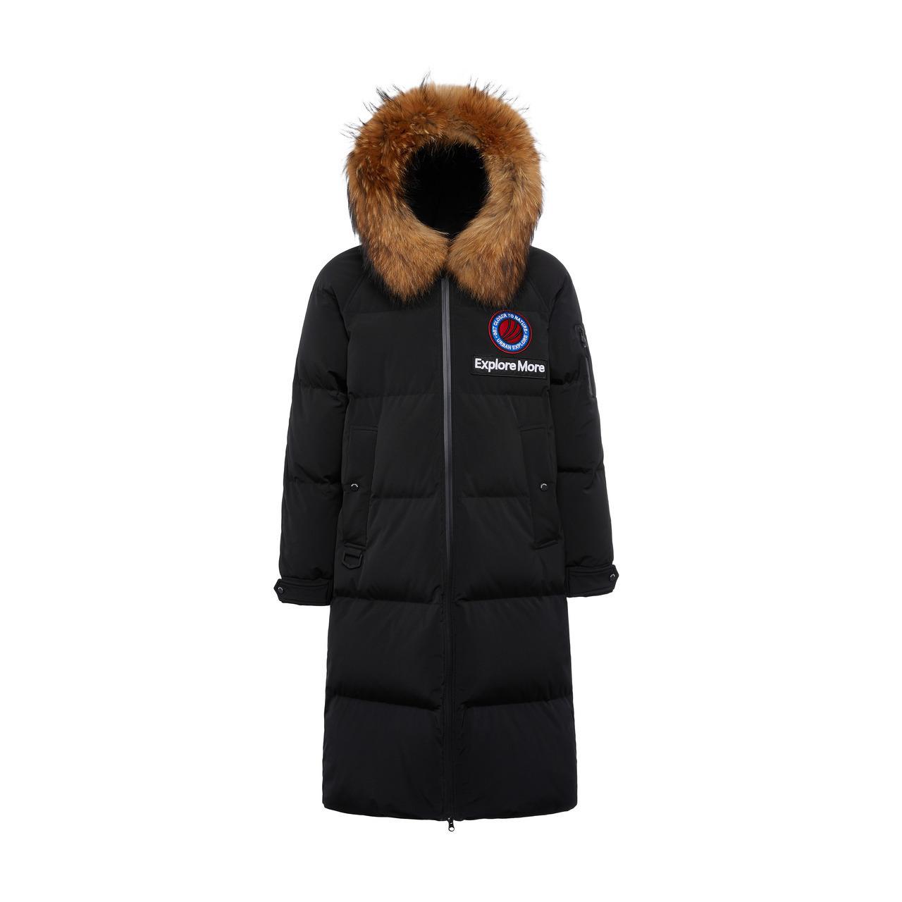 B80142153 波司登长款鹅绒羽绒服男士时尚大毛领保暖加厚冬装外套