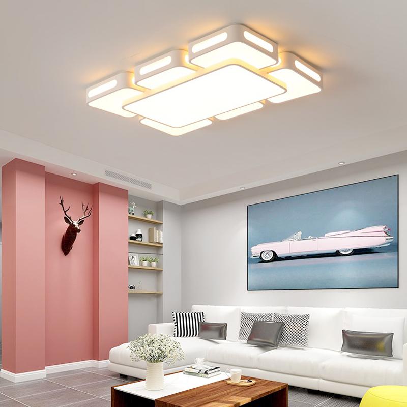 吸顶灯 led 客厅灯长方形简约现代卧室灯创意水晶大厅灯具大气家用
