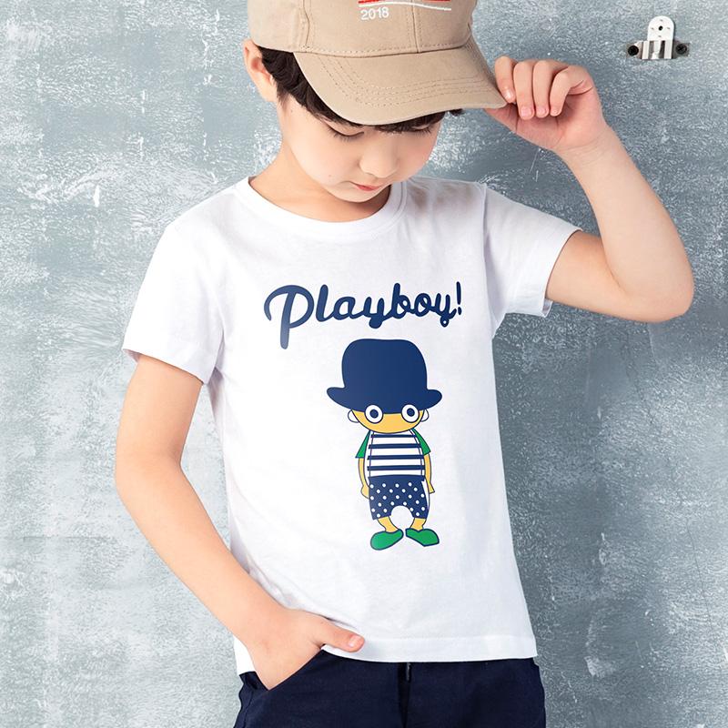 童装男童短袖t恤夏季儿童半袖中大童上衣男孩纯棉夏装小孩体恤潮