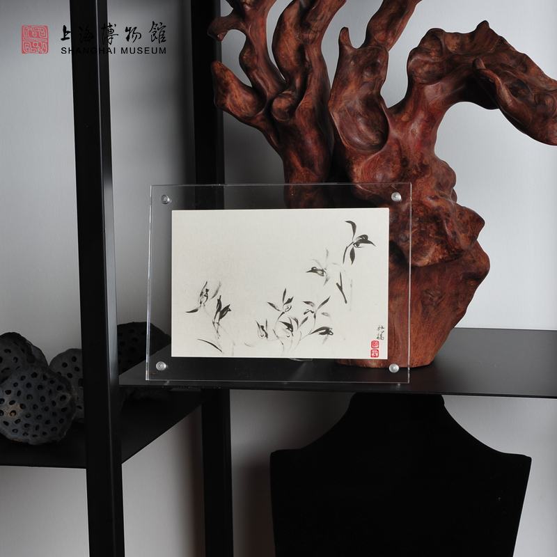 踏雪寻梅奔马图创意画框相框挂墙珂罗版画父亲节礼物 上海博物馆