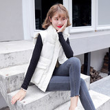 Anti-season 2019 new short cotton jacket down cotton vest autumn and winter women's vest loose medium long autumn and winter can shoulder jacket