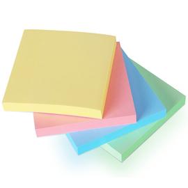 得力 7151 记事贴便签纸便利贴76mm正方形记事贴混色400张每页