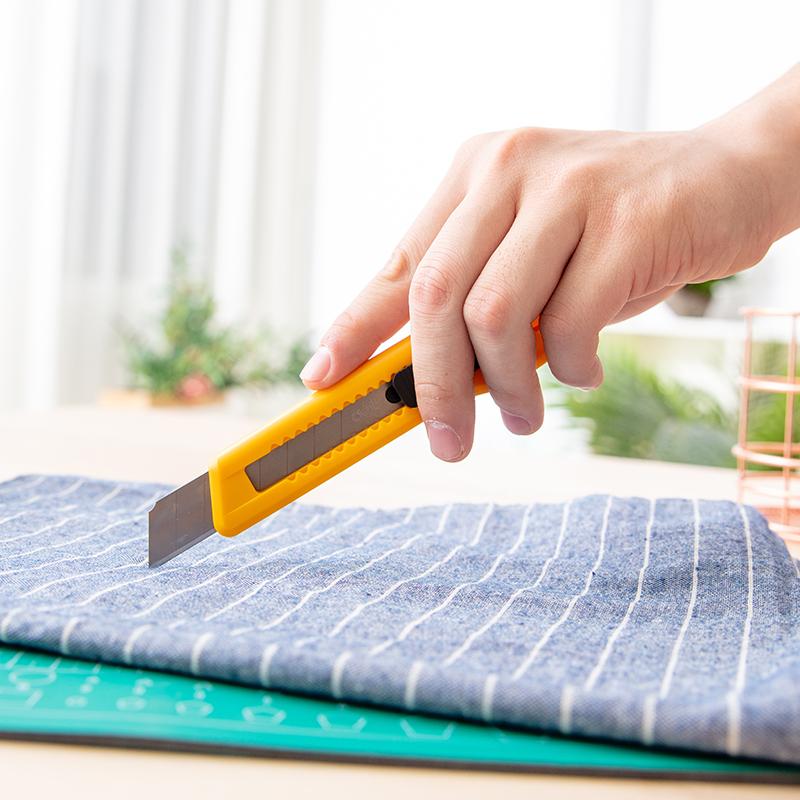 得力2001美工刀大号不锈钢壁纸刀手工裁纸刀片手动电工刀美术刀