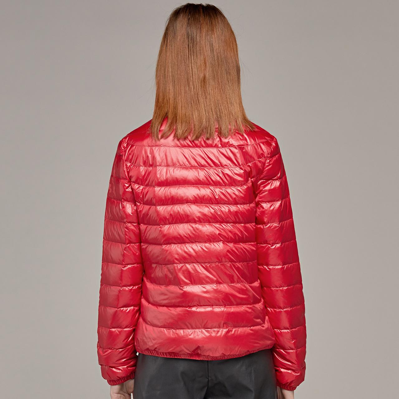 雪中飞2019秋冬轻薄羽绒服女短款修身便携气质显瘦纯色保暖外套潮