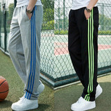 Spring sports pants men's casual pants trend trousers Zi Xia thin section cotton straight wide prednisone plus mast yards Wei pants