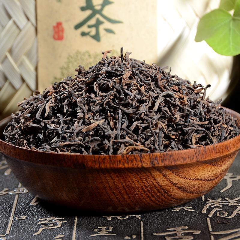 92年老茶云南普洱茶纯料熟茶散茶叶早春临沧宫廷1000克竹篓装包邮
