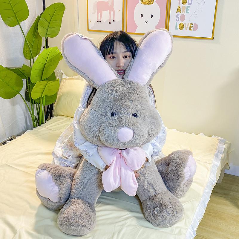 美国兔邦尼兔子公仔女生玩偶床上大号毛绒玩具布娃娃抱枕七夕礼物