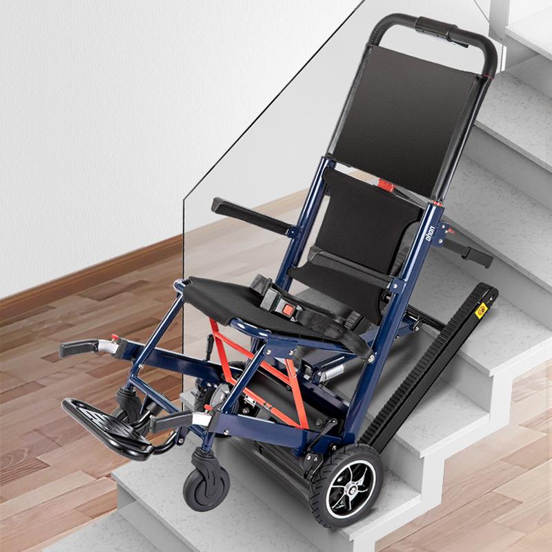 德国欧航电动爬楼轮椅车智能上下楼梯全自动履带残疾老年人爬楼机