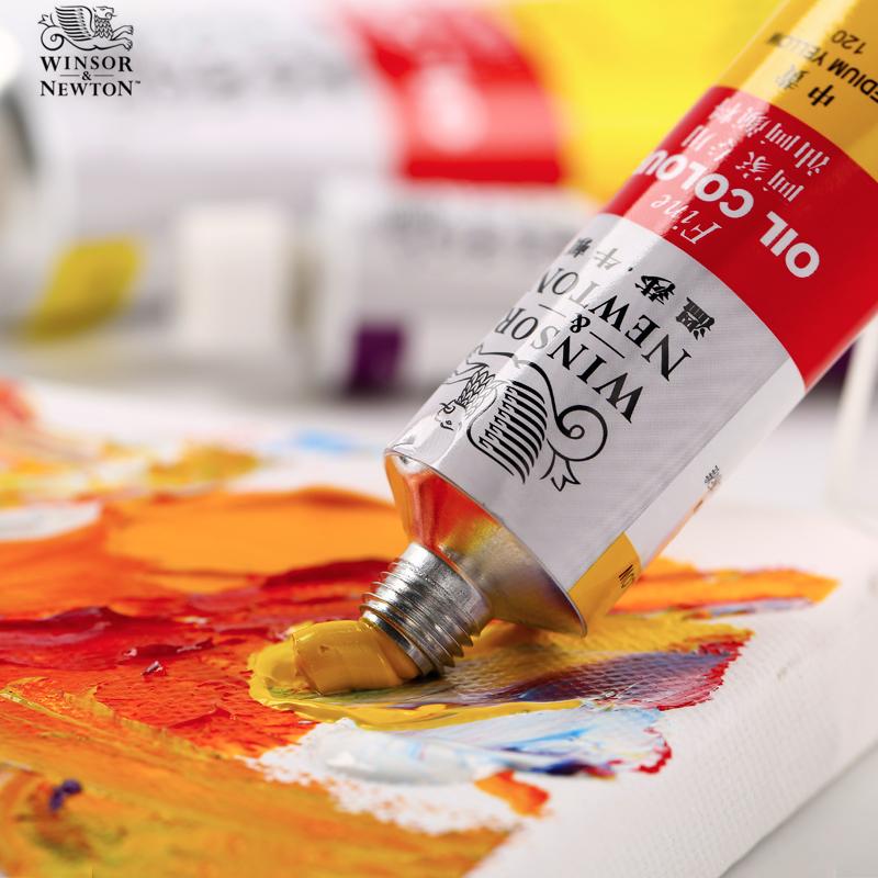 温莎牛顿油画颜料36色套装170ML/45ML美术绘画颜料单支装绘画组合套装 温莎油彩画手绘颜料常用色18/24色套装