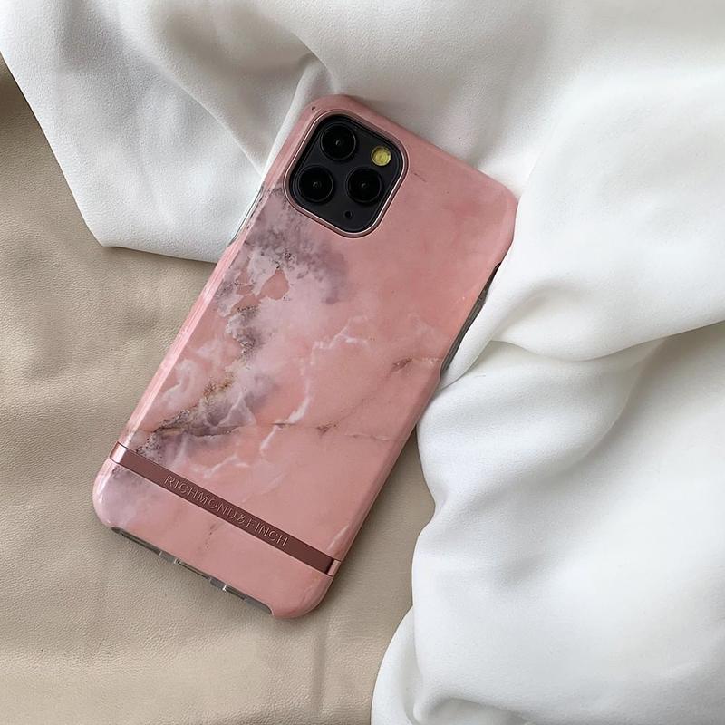 Richmondfinch粉色大理石适用苹果12手机iphone12/11promax保护壳