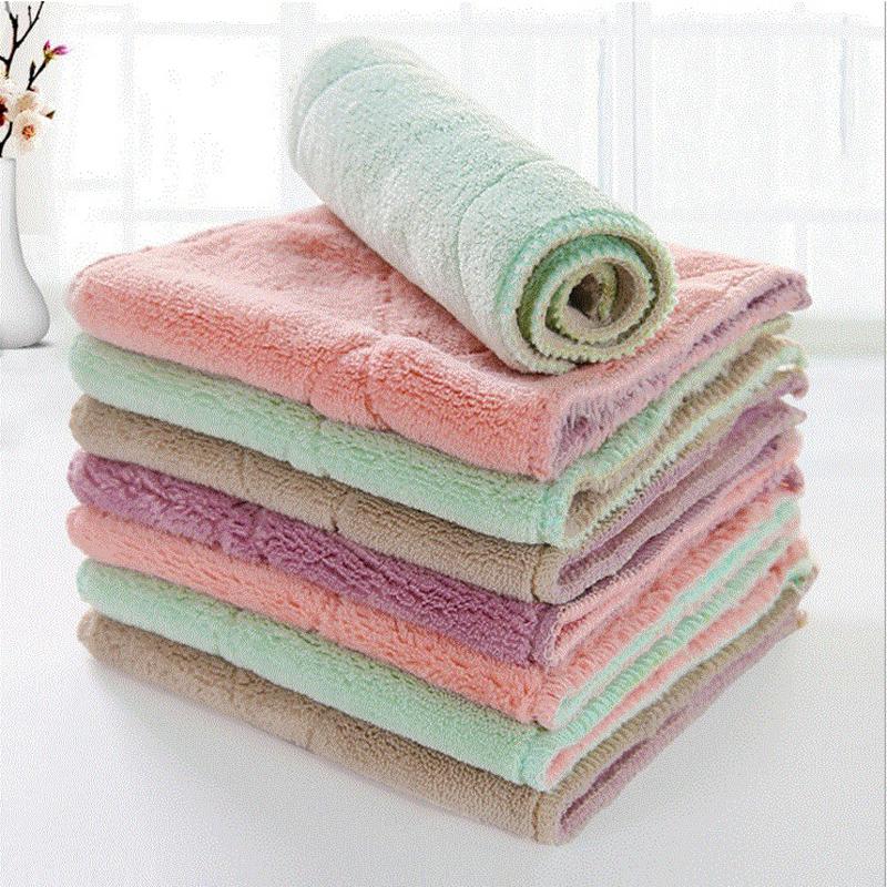 蓓利佳抹布不沾油厨房洗碗加厚清洁不掉毛纤维吸水保洁专用百洁布