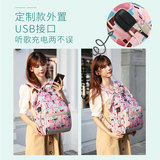 2019 new multi-functional fashion Mummy bag large capacity backpack maternal mom go out with a baby Backpack