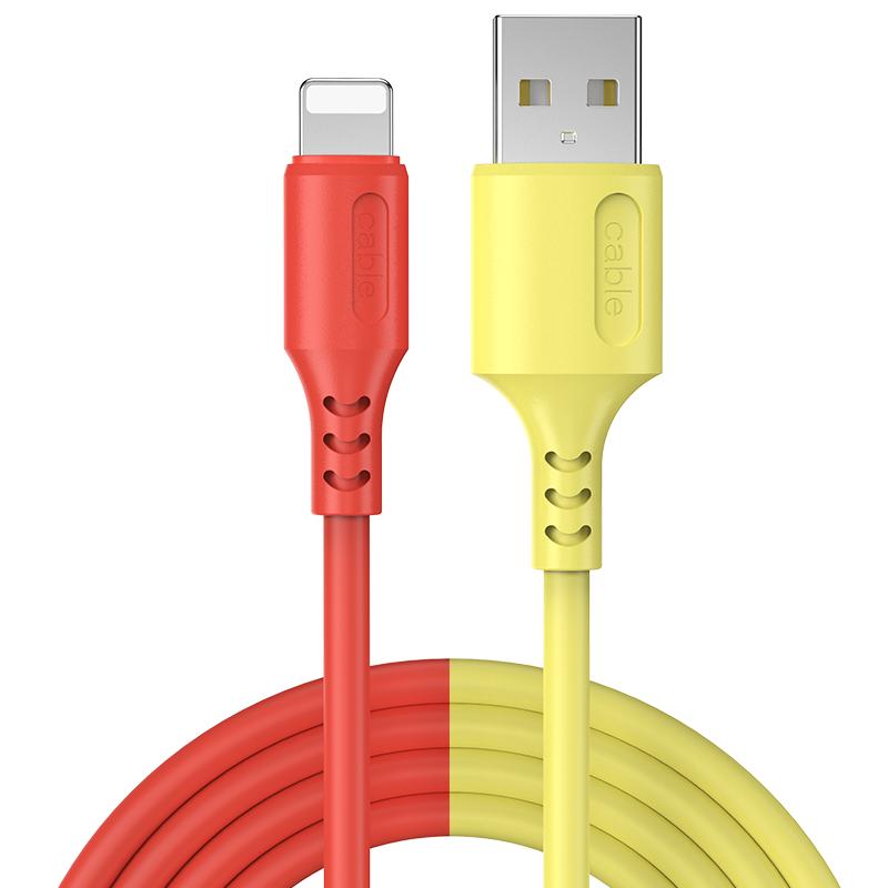 适用液态软胶苹果11pro数据线iPhone6手机7Plus充电线器6s加长5快充se闪充ipad冲电8X平板se xs - 图3