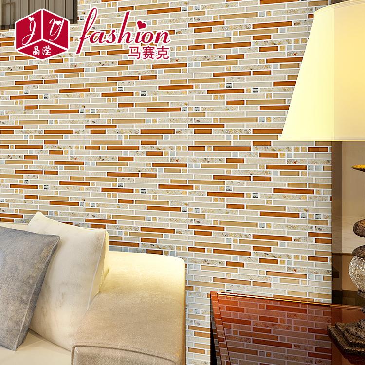 晶滢 欧式瓷砖水晶玻璃贝壳 马赛克拼图电视背景墙 客厅装修玄关