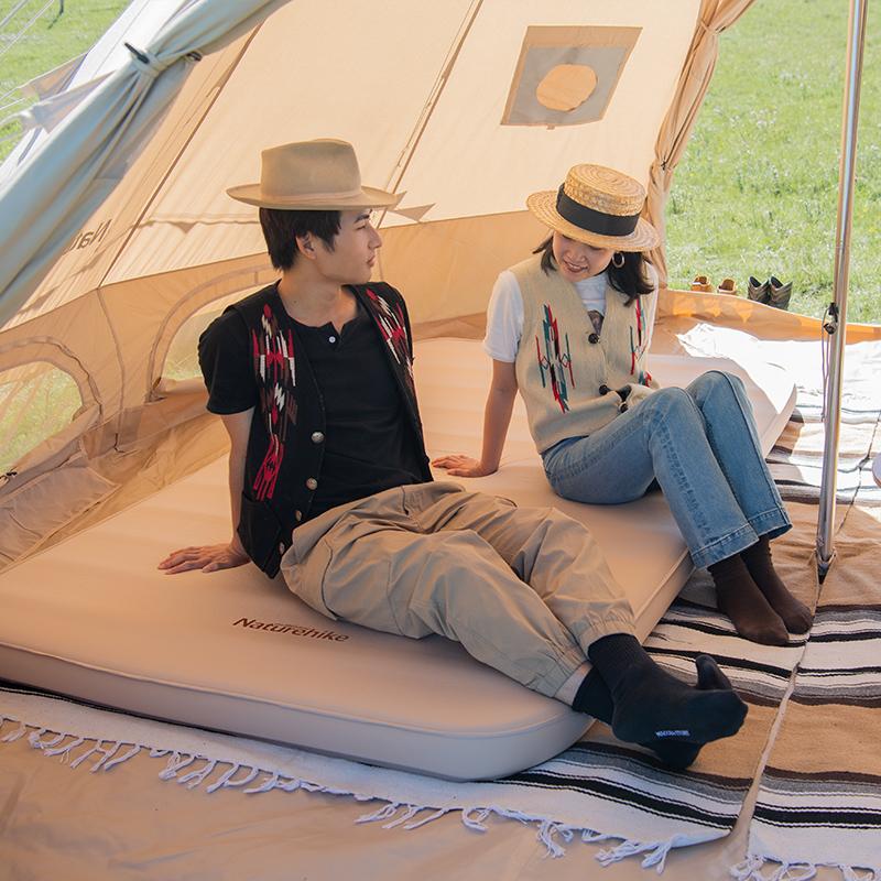 挪客自动充气床海绵加厚气垫户外露营单双人帐篷折叠垫 Naturehike
