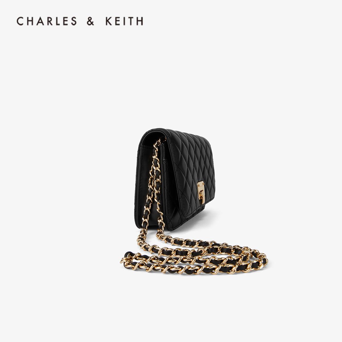 菱格金属链条女士单肩包 70160078 CK2 春夏新品 KEITH & CHARLES