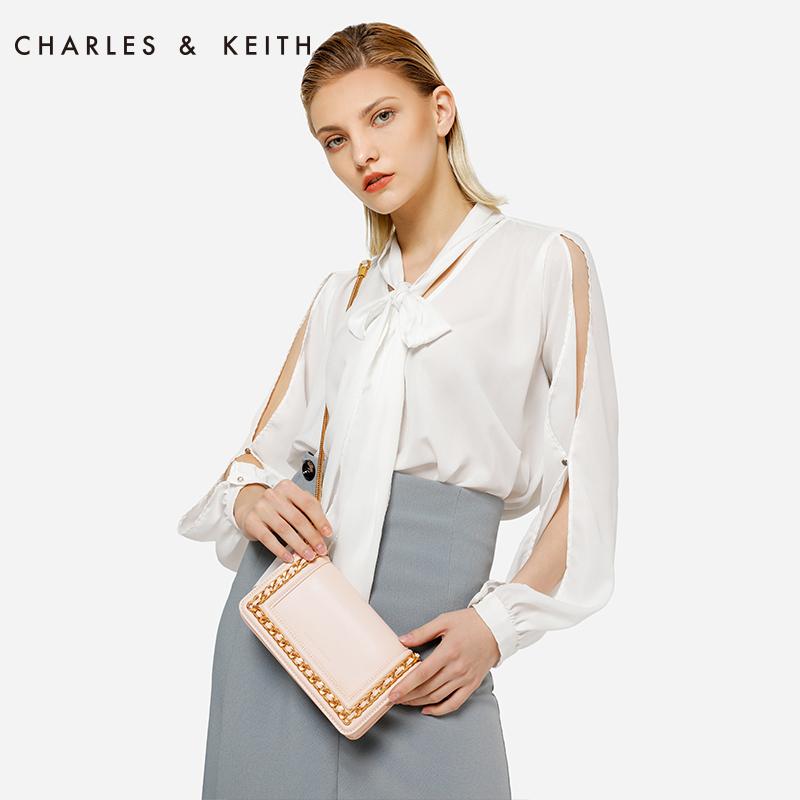 金属链条饰女士翻盖单肩包 1 70840146 CK2 小方包 KEITH & CHARLES