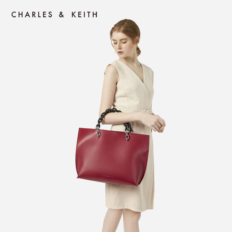 科技涂层金属链条女士托特包 30780842 CK2 单肩包 KEITH & CHARLES