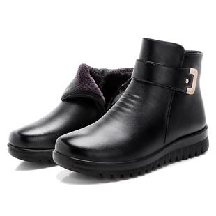 冬季加绒妈妈鞋棉鞋防滑软底短靴