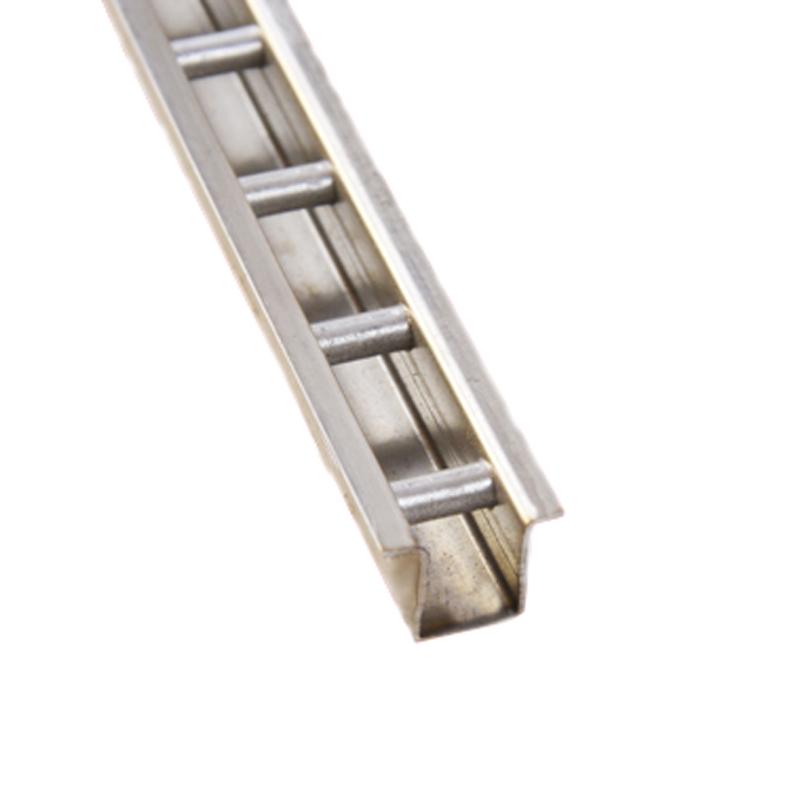 钢梯柱梯形柱不锈钢返边梯柱竖条钢条服装货架a柱条墙轨展柜导轨