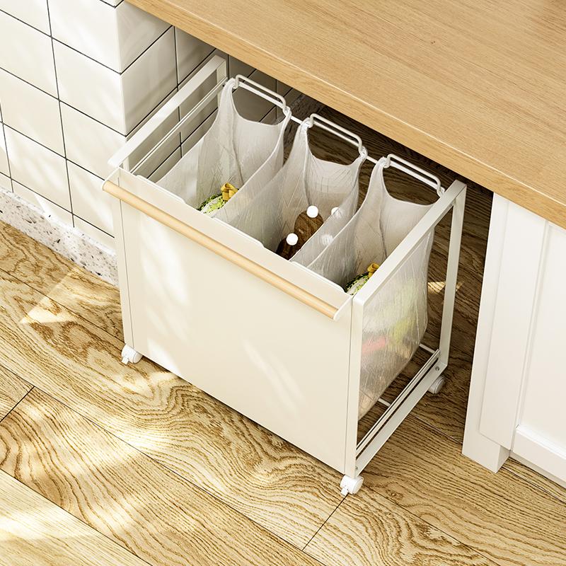 厅塑料袋分类垃圾桶垃圾整理架