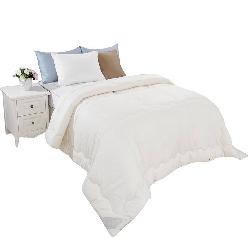 被子被芯冬天棉被床上用品 雅芳婷家纺加厚保暖抗菌羊毛复合冬被