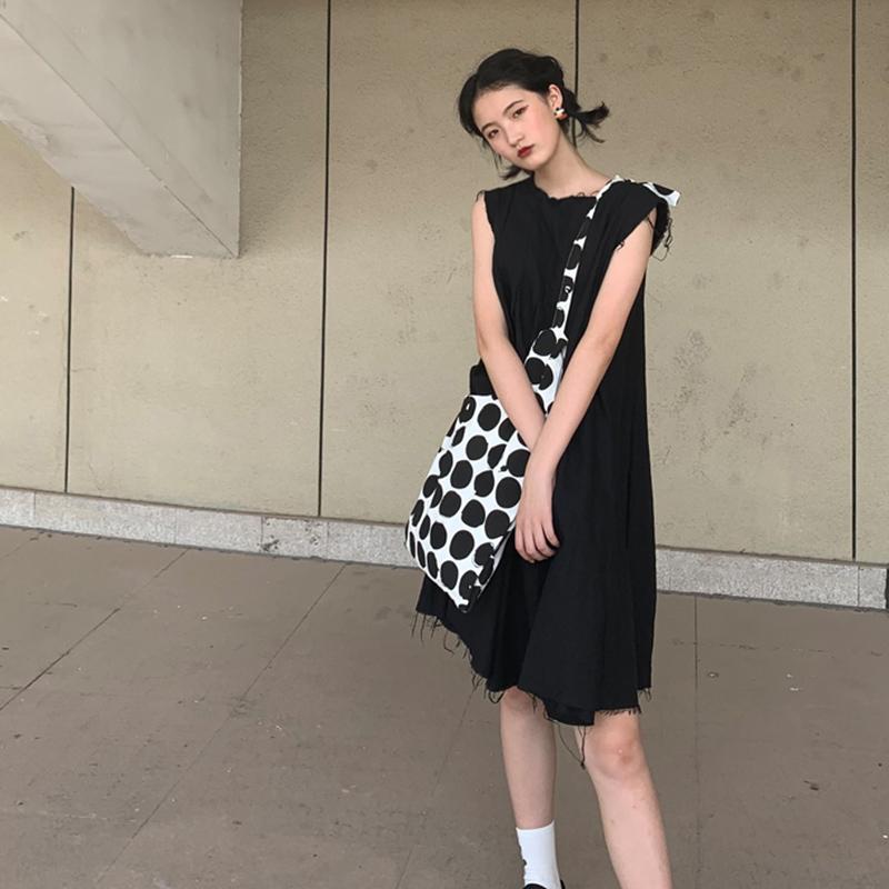 波点布袋大容量 ins 新款斜跨帆布包女单肩学生韩版女百搭 2020 包包