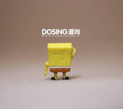 正版散货 迷你版小号 海绵人偶宝宝 塑料 塑料公仔摆件模型