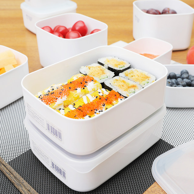 Japan imported fresh-keeping box plastic sealed box food grade refrigerator storage refrigerated box microwave lunch box lunch box