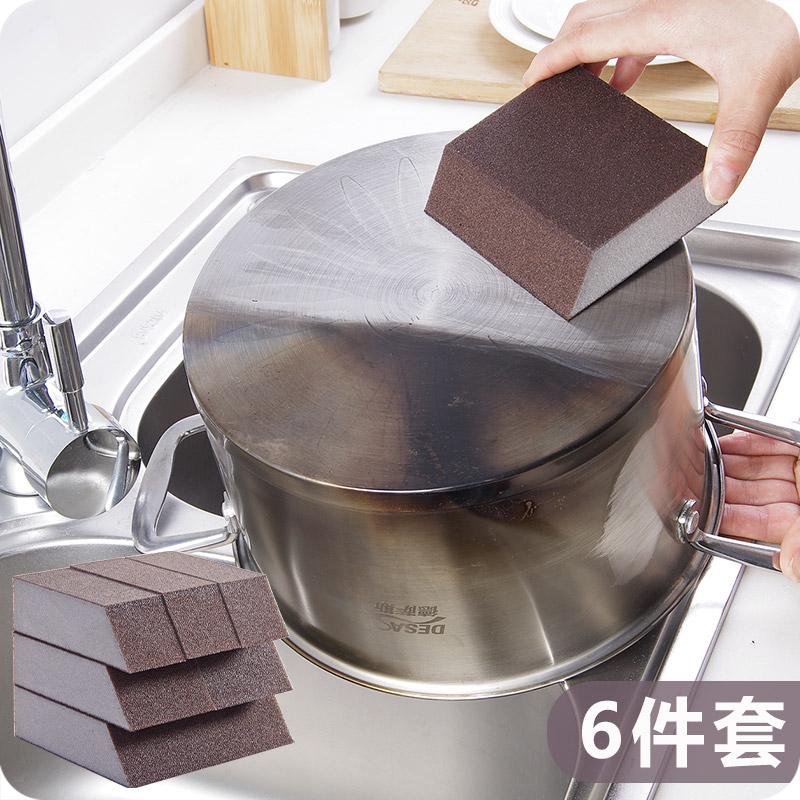 日本纳米魔力擦刷锅神器金钢砂海绵铁锈擦神奇魔术擦锅底除垢清洁