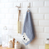 Super absorbent towel hanging towel towel Korea lovely thick cotton cloth towels small square bathroom
