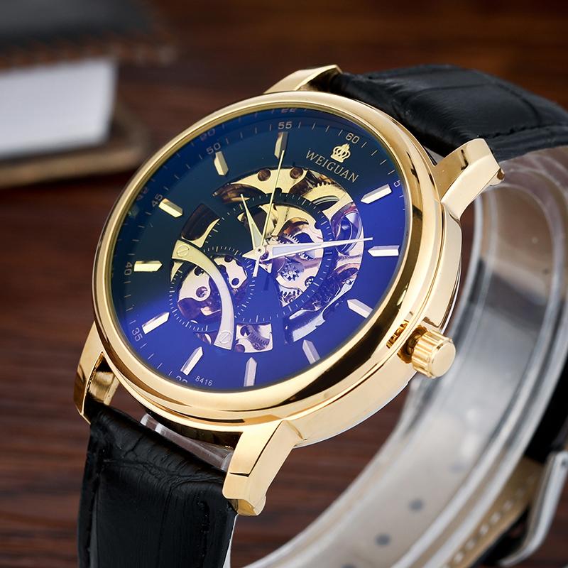 正品机械手表男士手表全自动防水学生潮流简约真皮运动钢带男表