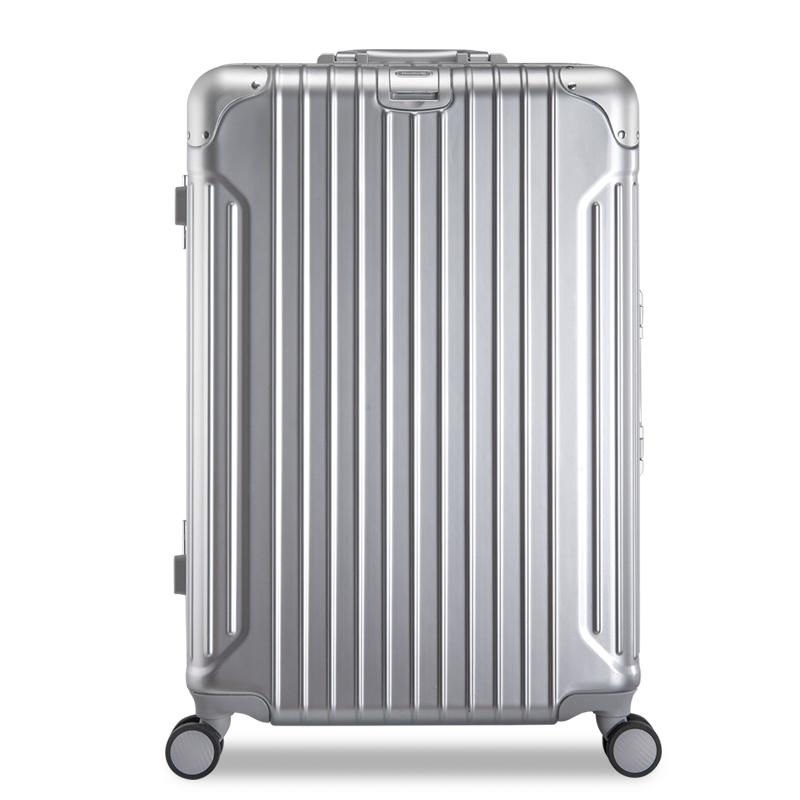 汉客铝框拉杆箱万向轮小型旅行箱20寸男皮箱28合金箱子行李箱女24