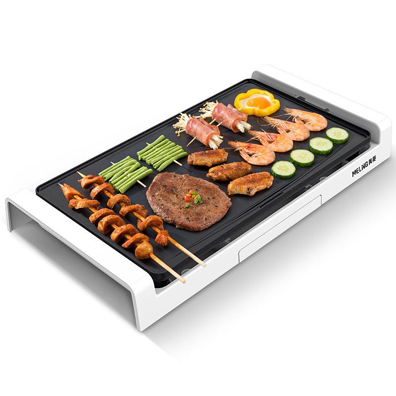 美菱电烤盘烤肉盘家用室内电烤炉不粘烤肉锅烤肉机无烟韩式铁板烧