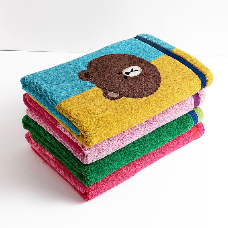 MINISO/名创优品浴巾 LINE FRIENDS 拼色浴巾-布朗熊