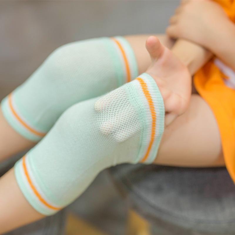 儿童护膝防摔夏天宝宝学步薄款网眼透气护具小孩运动夏季保暖袜套
